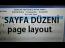 Finale 2011 Sayfa Düzeni Page Layout staff margin porte ara mesafesi Sol Anahtarı ve measure