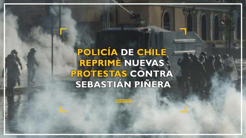 Policía de Chile reprime nuevas protestas contra Piñera