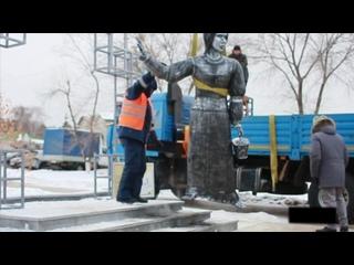Демонтаж памятника Алёнке