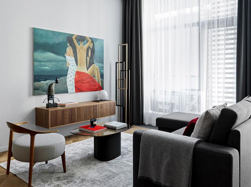 Интерьер студийной квартиры 40 м в Москве.