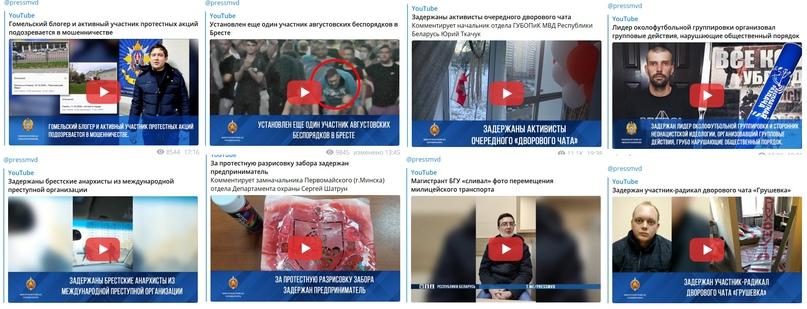 Вот столько видео выложили на канале МВД с 1 по 13 марта 2021 г., с целью запугивания.