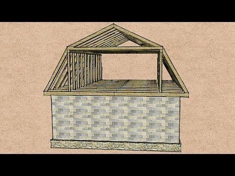 Расчет мансардной крыши – определение уклона, веса и площади