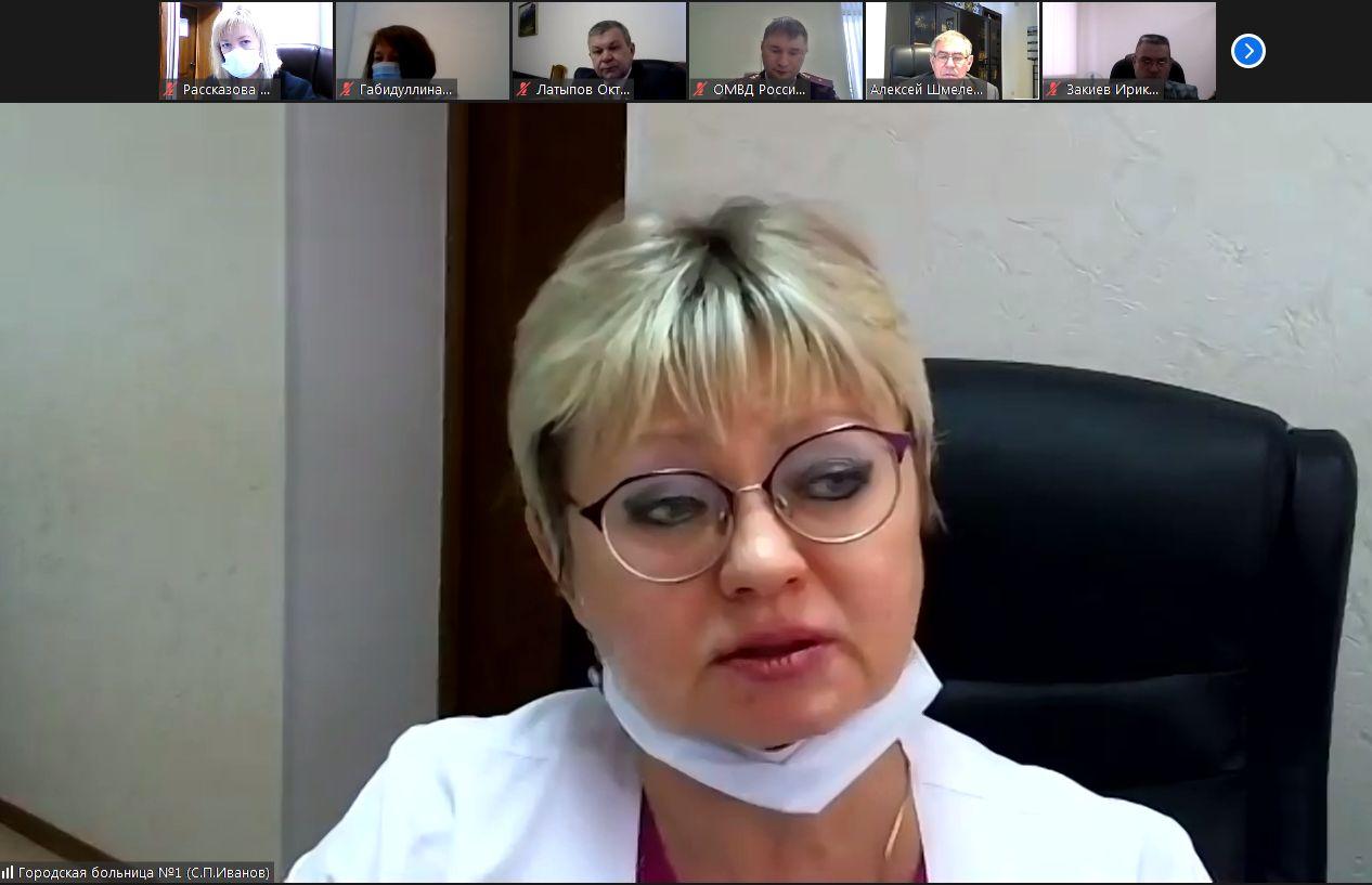 В ковид-госпитале Октябрьского сейчас находится 121 пациент
