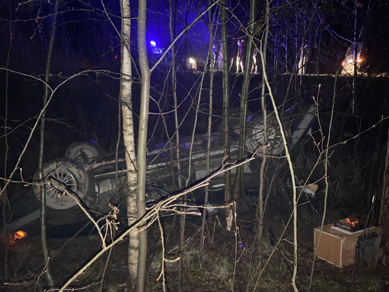 На 5 км автодороги Дубна-Кимры-Горицы нетрезвый водитель ВАЗа, уходя от погони, вылетел в кювет