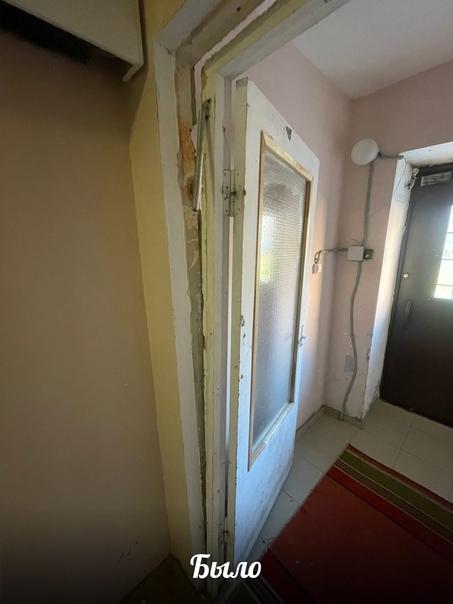Сотрудниками ООО «УК Олимп», была выполнена работа по восстановлению тамбурной двери по адресу: ул