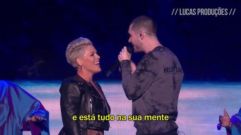 P!nk - Just Give Me A Reason (feat. Dan Smith) [TraduçãoLegendado]   Live at The BRIT Awards 2019
