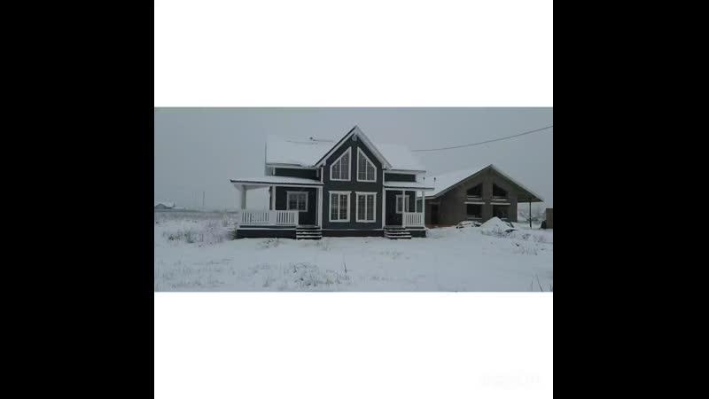каркасный дом 7.5х12м
