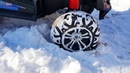 Power wheels Car stuck in the snow - Dima helping woman