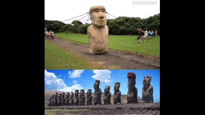 5-тонная копия моаи 10 футов высотой