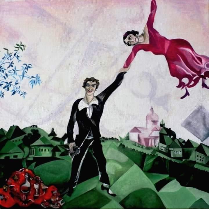 10 фактов о Марке Шагале и его картине «Прогулка».