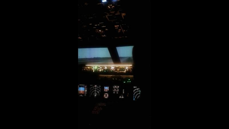 Взлёт на Boeing 737NG