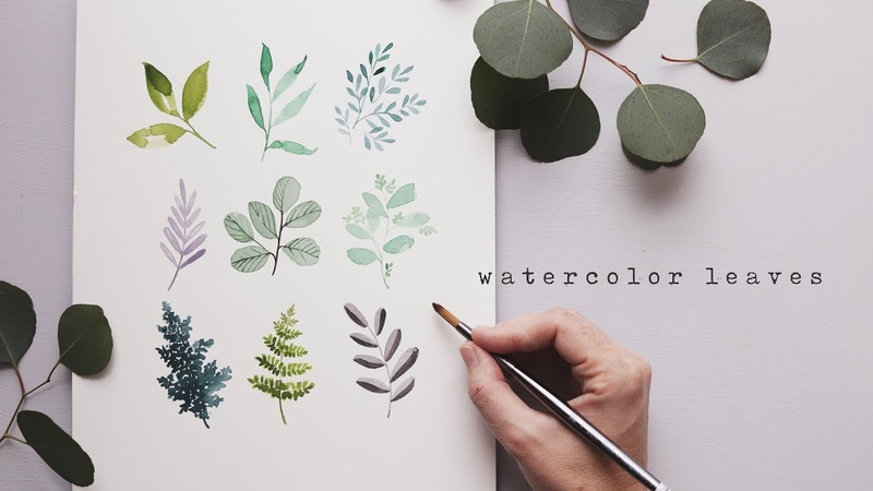 Every Watercolor Leaf You'll Ever Need w Genuine Crafts