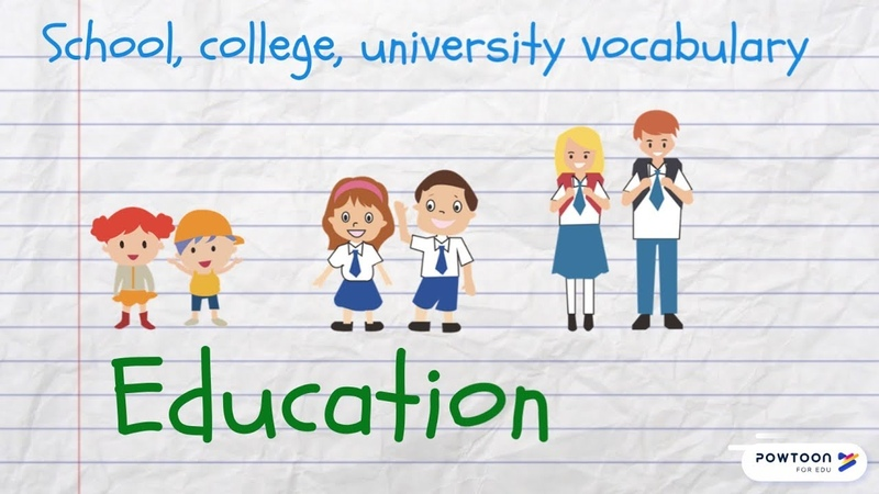 Speak About Education in English School College University Vocabulary