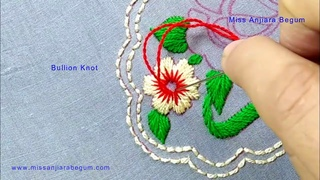 Cute Rose Embroidery for Cushion,Sofa,pillow cover,Table cloth,Portuguese Embroidery By Anjiara-157