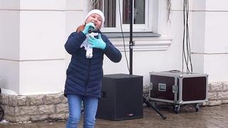 Анна Белова «Я твоя». Выступление на Масленице 2021 в Ясной Поляне.
