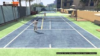 Grand Theft Auto V - Michael And Trevor Play Tennis Part 1