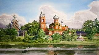 Акварельные пейзажи художницы Виктории Кирьяновой