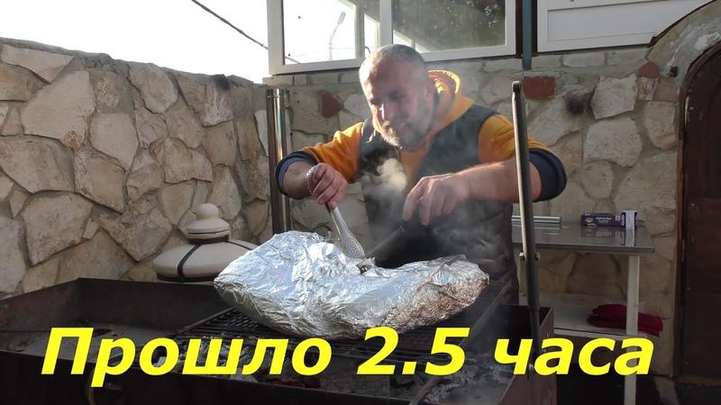 Ребра телятины 9 кг одним куском на мангале Каждый может повторить даже школьник