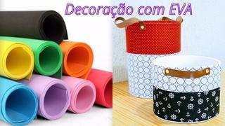 IDÉIA DE DECORAÇÃO COM EVA!! #EVA,#PASSOAPASSO,#DECORACAO,#CACHEPO,