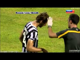 Fernando Llorente & Antonini horrible injury AC Milan vs Juventus friendly 23/7/13