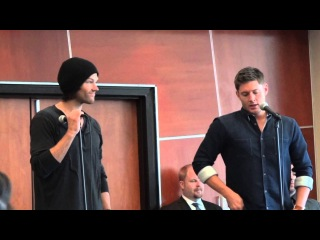 Supernatural VanCon2013 Breakfast with J2  Jensen talks about JJ