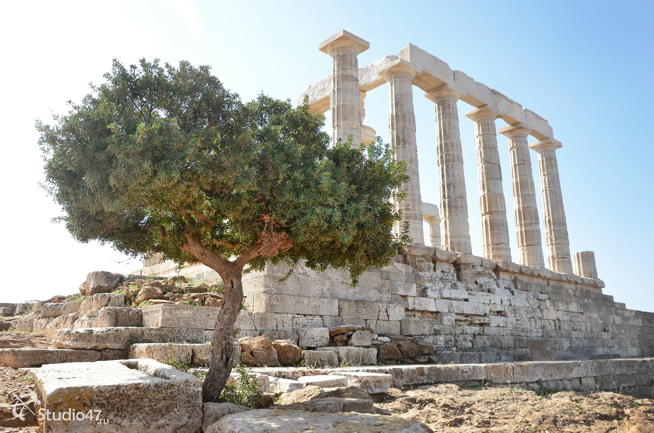 Мыс Сунион в Греции