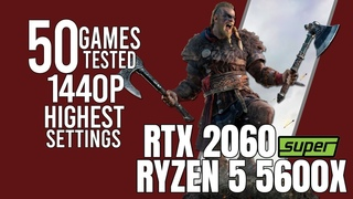 RTX 2060 Super + Ryzen 5 5600x | 50 games tested | highest settings 1440p benchmarks!