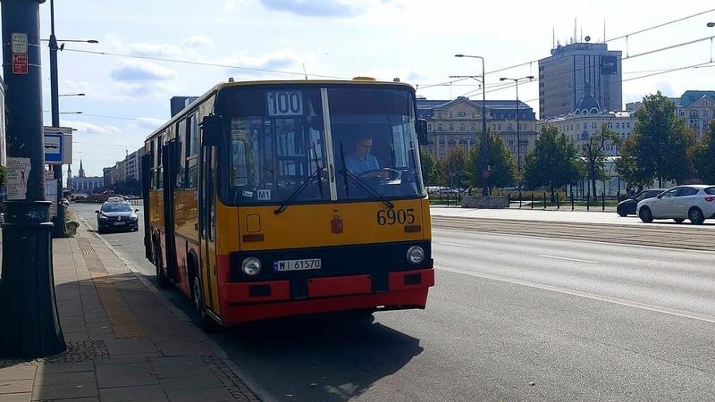 Przejazd: Ikarus 260.73A 6905 MZA Warszawa linia 100 WLT wydłużone do 27 Września