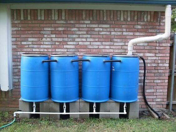 Идеи по сбору дождевой воды.