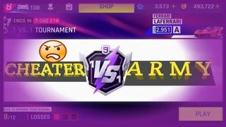 Asphalt 9: 1vs1 Tournament- 6-7-8 racing with tricks(Cheater(S)😏 Gameloft workers asleep!!