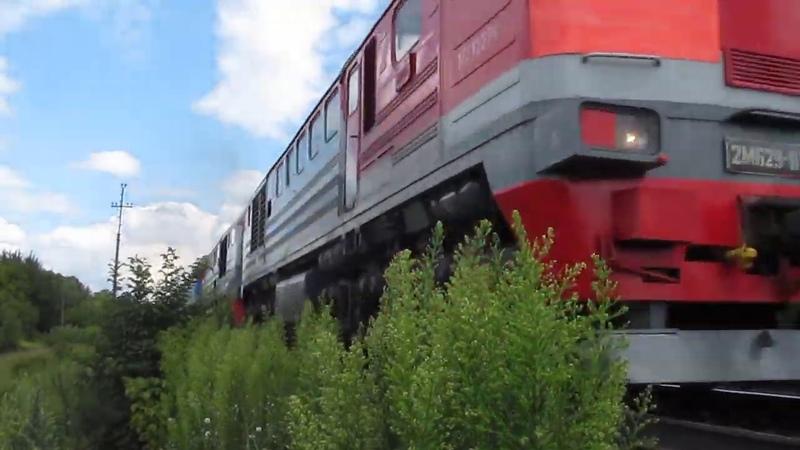 2М62У 0114 с поездом 317 Караганды Барановичи на перегоне Тула 3 Плеханово МСК ж д
