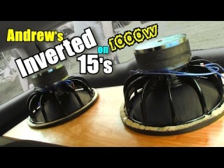 Inverted Subwoofers FLEXING on 1000 Watts! Andrews 2 15 inch Obsidian Car Audio Subs & Bose Speakers