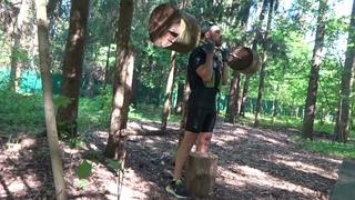 Лесная качалка | Pump up your biceps and chest