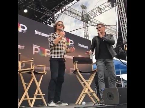 Jared Padalecki and Jensen Ackles at EWPopFest @ew's Facebook live